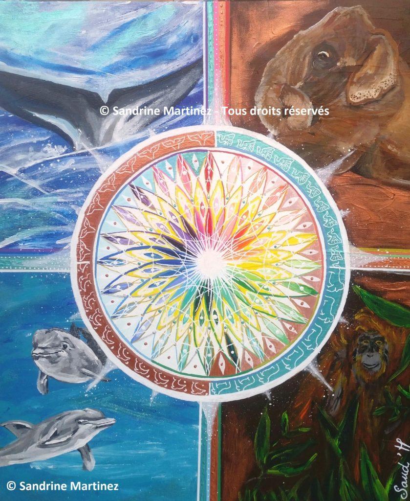 Fleur de vie et animaux - myriadinspiration