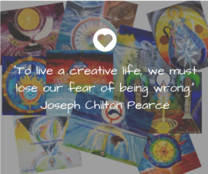 atelier créatif team building : to live a creative life, we must lose our fear of being wronf. Joseph Chilton Pearce