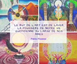 """Atelier créatif : """"Le but de l'art est de laver la poussière de notre vie quotidienne au large de nos âmes"""". Pablo Picasso"""