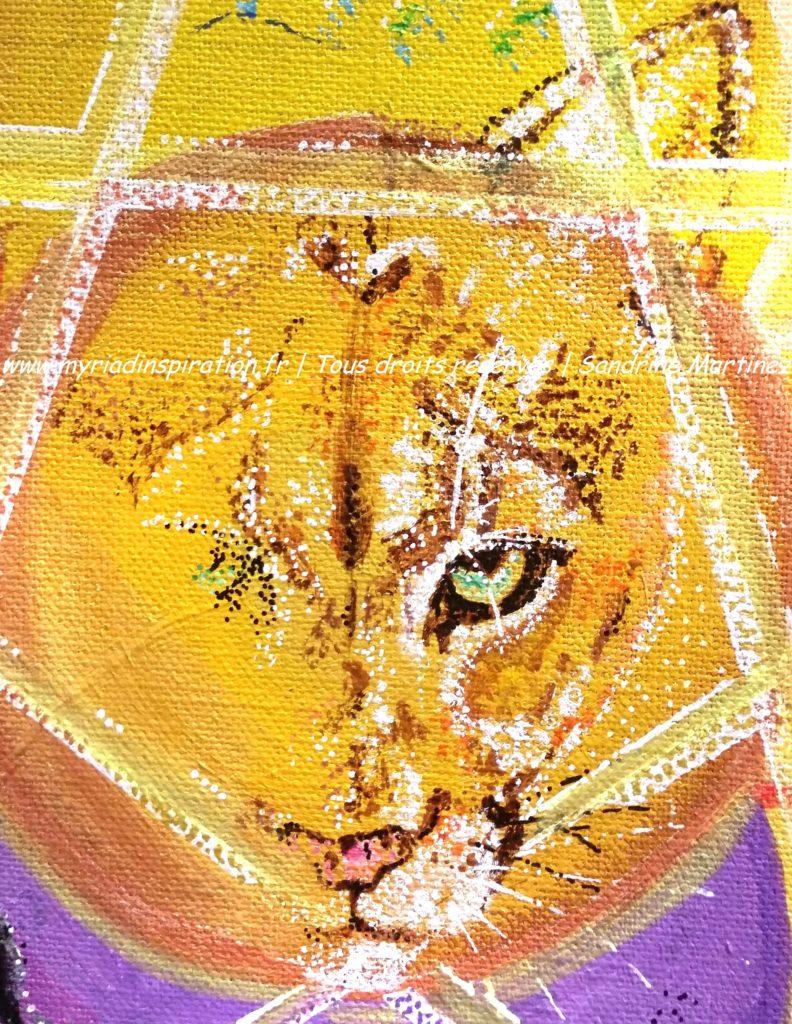 toile acrylique harmonie du foyer animal totem puma Myriadinspiration