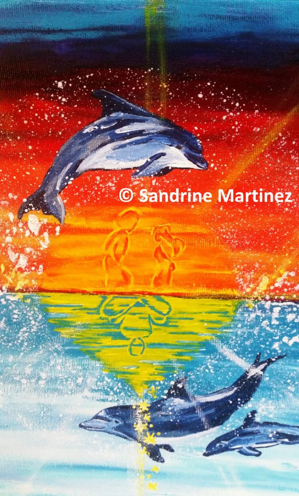 Dauphin - toile acrylique - myriadinspiration