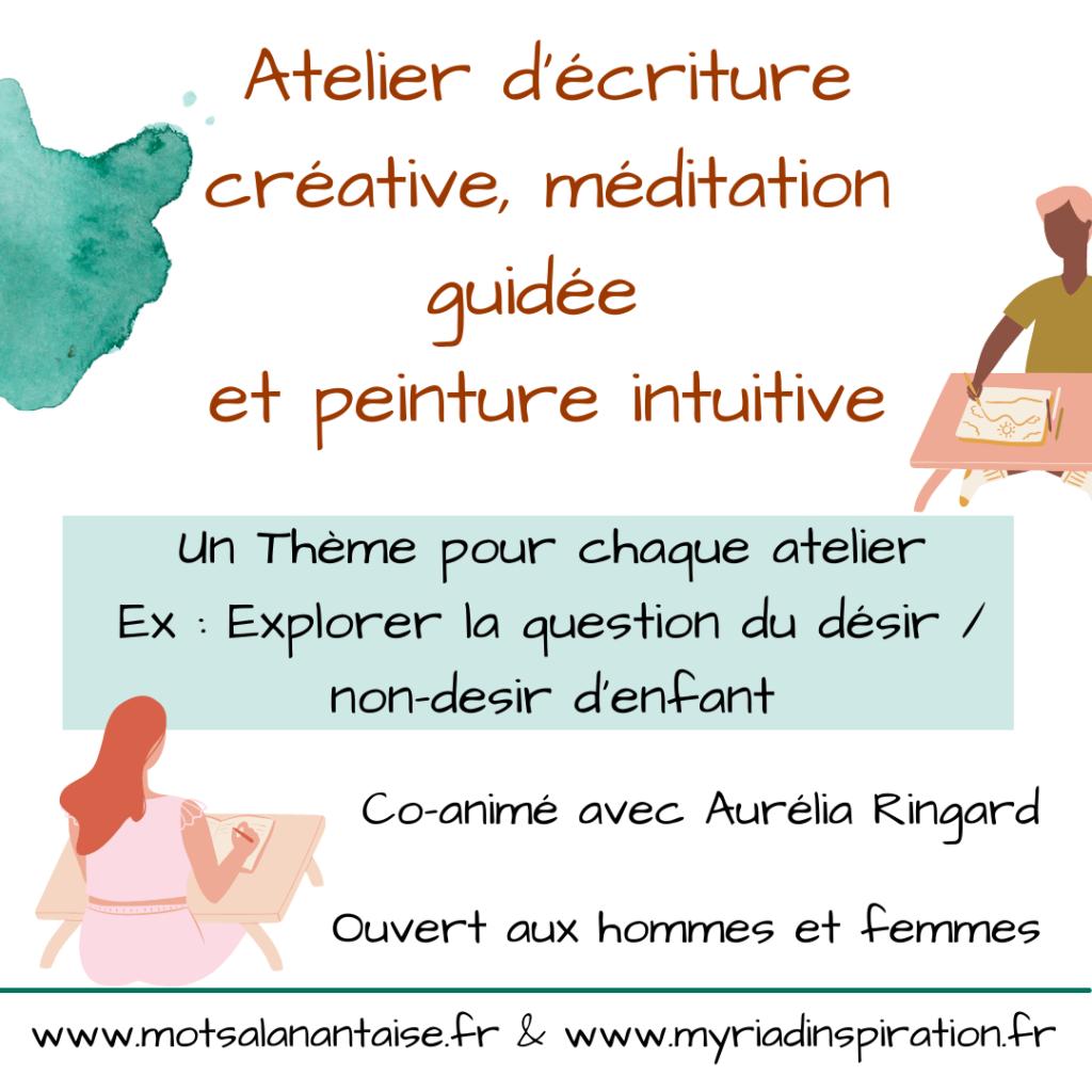 atelier écriture méditation peinture